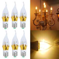 6pcs 6w E27 LED SMD Candle Bulbs Spot Light Chandelier Warm White Lamp Energy AU