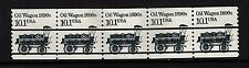#2130a Oil Wagon Black  Precancel PNC-5  Pl #1 - MNH