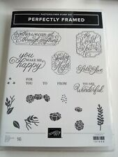 Stampin Up! Photopolymer Stamp Set PERFECTLY FRAMED