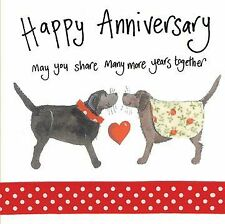 Wedding Anniversary Card - Dogs - Sparkle - Alex Clark Quality NEW