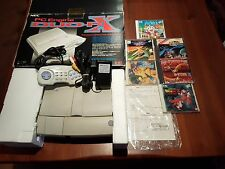 CONSOLE PC ENGINE DUO RX +BOX-MAUALI NEC-HU-CARD SUPER CDROM + 6 GAMES