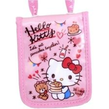 Cute Hello Kitty ID Badge Extensible Card Holder Case Room Card Case c//w Hook