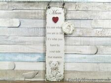 Teddy Mum It's not where you are in life… plaque sign F1388B