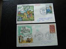 FRANCE - 2 enveloppes 1er jour 1968 (du guesclin/petits lits blanc)(cy59) french