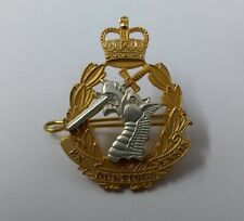 Genuine British Army Officers Gilt RADC Dental Corps issue Insignia Hat Badge