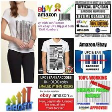 5000 Ean Barcodes Upc Codes | Ean Codes For Ebay Amazon| GS1 Valid Ean Numbers