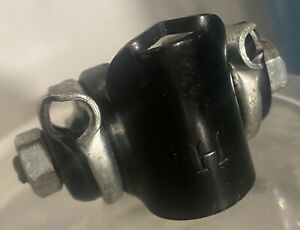 Hutch H Stamp Old School BMX 2-tone black/silver adjustable tilt bike seat clamp