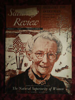 Saturday Review March 1 1952 GRANDMA MOSES ASHLEY MONTAGU