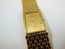 Lassale by Seiko Gold Tone Stainless Steel 1230-1150 Sample Watch NON-WORKING