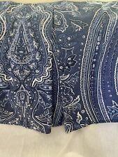 New listing Ralph Lauren Full Putney Blue White Paisley Bed Skirt Dust Ruffle Box Pleat 15�