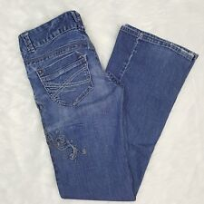 Aeropostale Women's Juniors Sz 3/4 Skinny Flare Denim Jeans Regular
