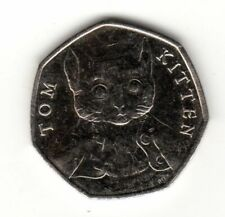 Beatrix Potter 50p Coin Tom Kitten 2017.