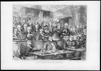 1874 - Antique Print TICHBORNE Pro Con Kenealy Clerk Defendant Court Book  (153)