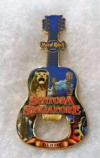 HARD ROCK CAFE SENTOSA SINGAPORE CITY BOTTLE OPENER GUITAR MAGNET
