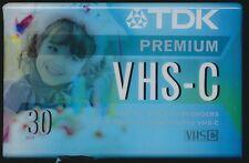 (1) Tdk Premium Vhs-C 30 Min. Tc-30Hg Camcorder Video Cassette Tape New