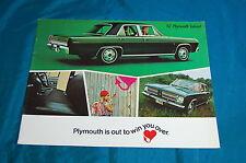 1967 Plymouth Valiant Brochure Dealer