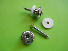PAIR OF CHROME GUITAR BUTTONS  VINTAGE GIBSON STYLE