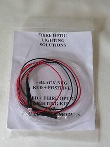 LED & fibre optic lighting kit for small scale models white