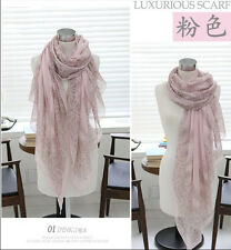 Women's Long Voile Cotton  Scarf Wrap Lady Shawl Large Scarves