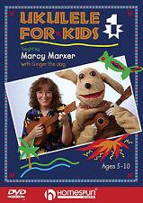 Learn To Play The Ukulele for Kids DVD Lesson Tutor EASY BEGINNER CHORDS STRUM