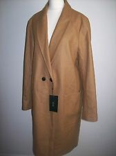 ZARA  WOOL CAMEL  LIGHT BROWN OVERSIZED COAT SIZE XL