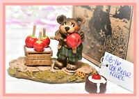 ❤️Wee Forest Folk BB-16 The Bear Faire Fare Candy Apples Retired WFF Halloween❤️