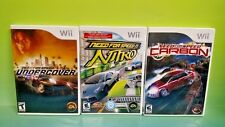 Need for Speed: Nitro, Carbon, Undercover - Nintendo Wii 3 Game Race Bundle Lot