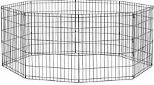 Heavy Duty Dog Exercise Barrier Removable Outdoor Fence Portable Playpen Kennel