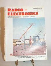 RADIO-ELECTRONICS MAGAZINE Feb. 1952-latest television-beam benders, freqmeter