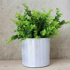Aztec Silver Dash Concrete Pot Planter 12.5 Cm Indoor Outdoor Garden Home Decor