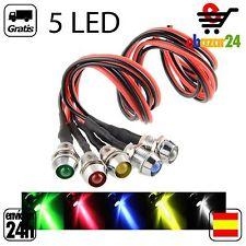 5x Luz LED 5 COLORES 12V IP55 piloto indicador bombilla indicador cable  *Envío
