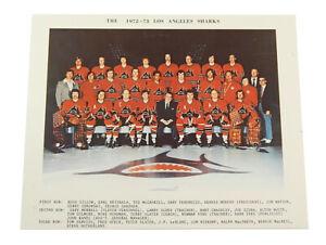 1972-73 WHA Los Angeles Sharks First Season Team Photo 8x10
