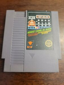 Donkey Kong Jr. Math (Nintendo Entertainment System) Game Only - Tested