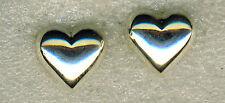 """925 argento Sterling small sbuffo CUORE ORECCHINI A PERNO 8mm x 8mm (1/3 """"x 1/3"""")"""