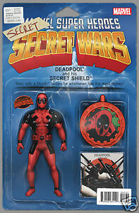 Deadpools Secret Wars #1 Action Figure Variant Cover John Tyler Christopher NM-