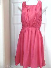ALICE + OLIVIA 5505 Womens Silk Mary Pleated Mini Casual Dress L