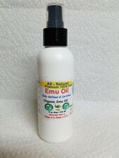 4 oz.100%  Bottle Of Pure  Organic Certified  Emu Oil / with flip top and pump