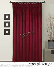 Saaria Velvet Pinch Pleated 100% Thermal Blackout Curtain Stage/Theater Backdrop