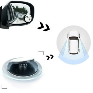 Auto Car Rear View Mirror 360° Rotating Wide Angle Convex Blind Spot Clear