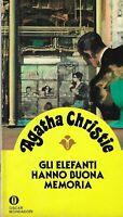 Gli elefanti hanno buona memoria - Christie - mondadori - 3° rist. oscar gialli