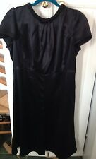 Armani Collezioni Beaded Neck Silk Dress Size 12 EUC