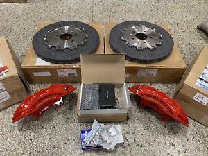 2016+ Corvette Z06 Red Rear Brembo Carbon Ceramic GM Brake Calipers Rotors Pads