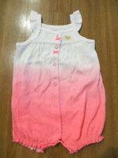 NWT Carter/'s Girls Pink /& White Romper 3M 6M 9M NEW