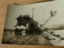 PHOTO ANCIENNE 1930 -VINTAGE SNAPSHOT-TRAIN ENGIN POUR LES VOIES SNCF MÉTIER