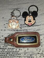 Mickey Mouse, Tony the Tiger & Ford Keychains (3)