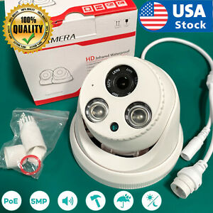 USA 5MP IR outdoor POE Dome IP CCTV Security Camera 4mm H.265 NVR Night Vision