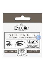 EYLURE BLACK SUPERFIX INDIVIDUAL & EXTENDED EYELASH GLUE 6ML SUPER FIX ADHESIVE