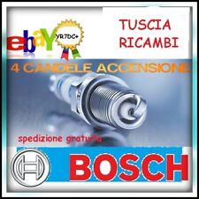 4 CANDELE BOSCH 0242135515 YR7DC per FIAT PANDA 500 G.PUNTO KA 1200-1400 BZ/GPL