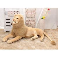Lion plush soft Cuddly huge stuffed animal big jungle gift kids Birthday toy