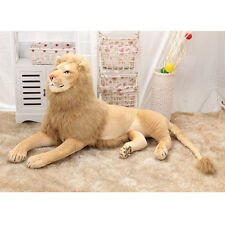 Lion Plush Soft Cuddly Huge Stuffed Animal Big Jungle Gift Teddy Brown Kids Toy#